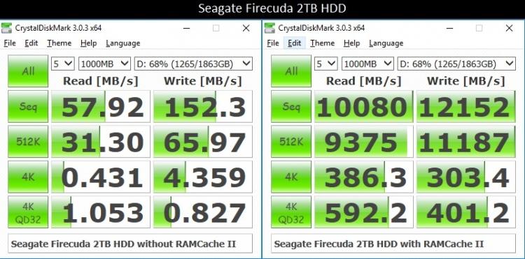 2.Seagate Firecuda RAMCACHE