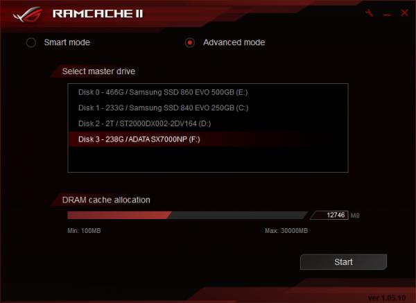 RAMCACHE II setup